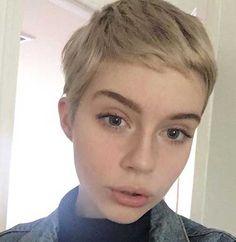 2018 Trend Kurzhaarschnitte für feines Haar, Kurze Frisuren für feines Haar , Kurze Frisuren Short Hairstyles Fine, Haircuts For Fine Hair, Pixie Hairstyles, Pixie Haircut, Cool Hairstyles, Short Haircuts, Trendy Haircuts, Pixie Bangs, Boy Haircuts