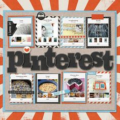 Great Scrapbook layout idea!  Document one obsession with the other!