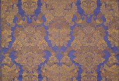Rubelli Venezia - 19932-004 CUORIDORO - bluLampasso ricco - brocadeRep.: 86cm - Width: 140cm - Weight: 330gr/m32%VI 25� 24%SE 19%LI