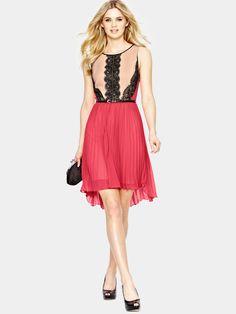OasisLucy Lace Sleeveless Dress   Very.co.uk
