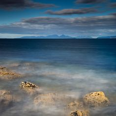 The view North towards Rum Much Eigg and Skye