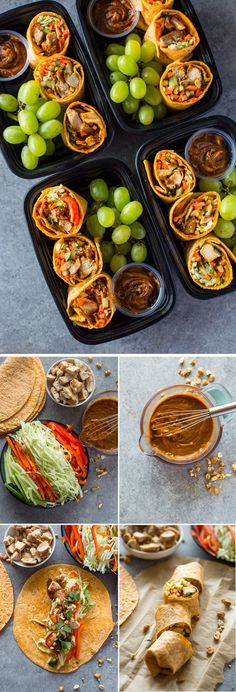 Thai Chicken Wraps Meal-Prep Bistro Boxes I LOVE the flavor of these – always got them at Starbucks when I worked in the mall. Thai Chicken Wraps Meal-Prep Bistro Boxes I LOVE the flavor of these – always got them at Starbucks when I worked in the mall. Lunch Meal Prep, Meal Prep Bowls, Healthy Meal Prep, Healthy Snacks, Healthy Recipes, Keto Recipes, Lunch Time, Thai Recipes, Healthy Drinks