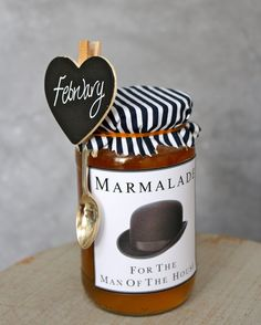 Homemade marmalade with personalized labels, way to wrap my apricot jam I do every summer