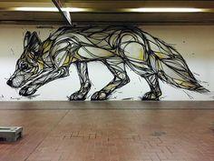 Dzia Krank : des animaux sur les murs belges
