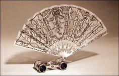 fancy fan and binocular