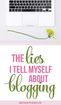 Two lies I've told myself about confidence and blogging and 5 truths I'm working on reminding myself of. This is something we all struggle with. - iheartplanners.com