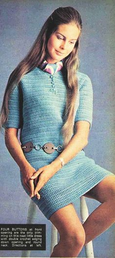 CROCHET PATTERN Lacy Mini Dress Vintage
