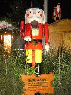 The Giant Nutcracker at Stuttgart Christmas Market....seen this huge nutcracker