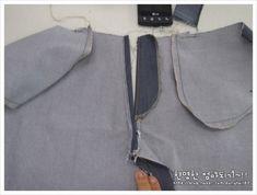 바지 앞 지퍼 달기 : 네이버 블로그 Bomber Jacket, Sewing, Jackets, Fashion, World, Down Jackets, Moda, Dressmaking, Couture