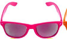 Pink Neon Wayfarer Glasses with Mirrored Lense. Perfect to wear for a Music Festival http://www.novelties-direct.co.uk/Pink-Neon-Wayfarer-Glasses-with-Mirrored-Lense.html