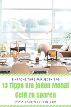13 einfache Tipps für jeden Tag: So sparst Du jeden Monat Geld!