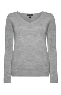 Primark - Pull à col en V en cachemire gris