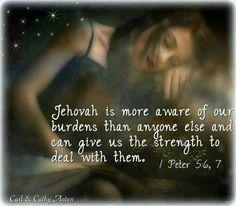 1Peter 5:6,7 strength to endurance...