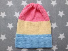 Knit Pride Hat  Pastel Pan Pride  Slouchy Beanie