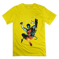 Popular Nightcrawler Azazel Mens Tshirt Yellow Size S