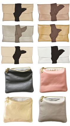 Handmade leather pouches. Upcycled from leather couches