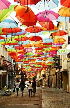 The umbrellas of Agueda, Portugal #wanderingsole