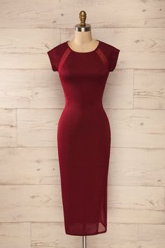 Elegance - Valentine's day - Red dress - Pontida Burgundy from Boutique 1861 www.1861.ca