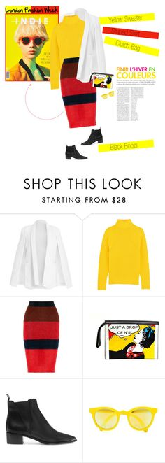 """""""No 316:London Fashion Week"""" by lovepastel ❤ liked on Polyvore featuring J.Crew, rag & bone, Chanel, Acne Studios, Sunpocket, women's clothing, women, female, woman and misses"""