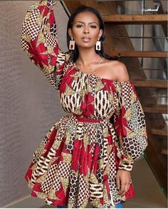 ankara mode Thanks for stopping by! An ankara mini dress which could also double as a blouse and can also be worn alone without the belt made from quality ankara print to make you appear African Fashion Ankara, Latest African Fashion Dresses, African Print Dresses, African Print Fashion, Africa Fashion, African Wear, African Attire, African Women, African Dress
