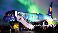 Hekla Aurora has been fitted with an LED system displaying the stunning northern lights throughout the main cabin- new plane on Icelandair. Iceland is notoriously the best place to see the Northern Lights Iceland Air, Northen Lights, Boeing Aircraft, See The Northern Lights, Air Travel, Aurora Borealis, Interior And Exterior, Places To See, The Outsiders
