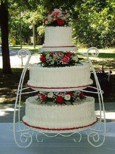 wrought iron wedding cake stand