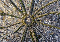Arc de Triomphe, Paris, France, from a Bird's-Eye View by Air Pano. l #photography #aerial