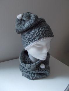 completo in lana, maglia rasata.