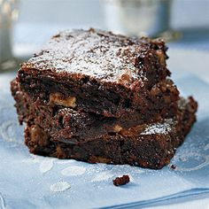 Recipe: Chunky Chocolate Brownies   SouthernLiving.com   #Chocolate