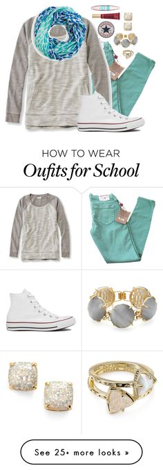 """If I wore this today, I would burn up"" by margaretlorraine02 on Polyvore featuring Kate Spade, True Religion, L.L.Bean, Converse, Kendra Scott, Too Faced Cosmetics and Maybelline"