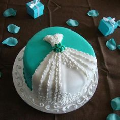 Cute Bridal Shower Cake Idea - Other dress cakes on website.