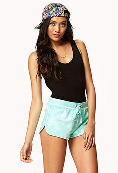 Tie-Dye Dolphin Shorts | FOREVER21 - 2042598569