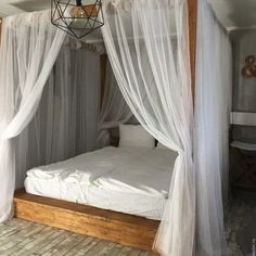 36 Nice Romantic Canopy Bed Design Ideas You Must Have - Creating a romantic canopy bed does not require a professional designer. A canopy bed adds elegance, sophistication and most of all; it gives a romant. Bedroom Sets, Home Decor Bedroom, Bedroom Furniture, Bedding Sets, Bamboo Furniture, Shabby Bedroom, Bedding Decor, Furniture Dolly, Furniture Layout