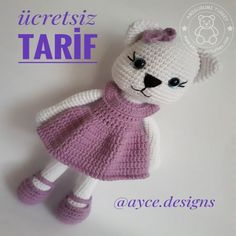 Hello friends, this is a new recipe. Girl Dolls, Baby Dolls, Amigurumi For Beginners, Cute Stockings, Hamster, Stuffed Animal Patterns, Baby Prints, Hat Making, Amigurumi Doll