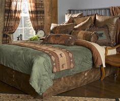 Cabin Northern Pine Western Comforter Bedding Set Bed in a Bag Funky Bedroom, All White Bedroom, Bedroom Sets, Luxury Duvet Covers, Luxury Bedding, Queen Comforter Sets, Bedding Sets, Bedding Decor, Pine Beds