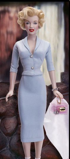 "Marilyn Monroe ""Niagara"" Doll. She even has a lucite purse! So qt."