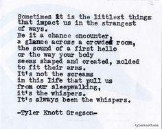 Typewriter Series #490 by Tyler Knott Gregson