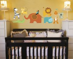 Animal Decal for a Baby Room. $39.99, via Etsy.