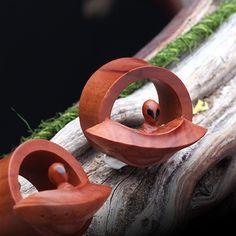 Alien Attack! UFO Sabo Wood Double Flared Plug #piercing #eargauge