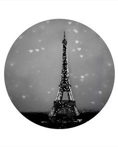 Modern Paris Wall Decor- Black white gray- Eiffle Tower photography -