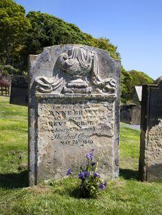 Anne Brontes Grave, Scarborough, North Yorkshire, Yorkshire, England, United Kingdom, Europe Photographic Print by Mark Sunderland at Art.co.uk