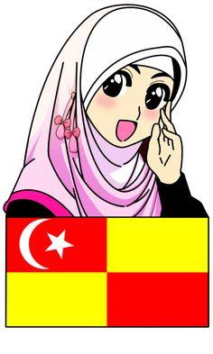 Fizgraphic Design & Printing: Freebies Doodle Muslimah Untuk Negeri