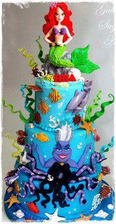 <3 Ursula and Ariel Cake