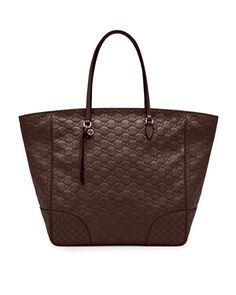 Bree Guccissima Leather Top-Handle Bag, Dark Brown by Gucci at Neiman Marcus.