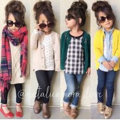 43 Cute Adorable Fall Outfits for Kids Ideas - Fashion - Kids Style Little Girl Outfits, Cute Outfits For Kids, Little Girl Fashion, Back To School Outfits For Kids, Toddler Fall Outfits Girl, Kids Outfits Girls, Toddler Girl Style, Toddler Fashion, Kids Fashion