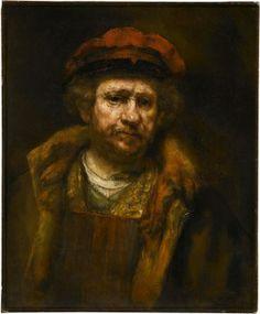 Staatsgalerie Stuttgart - Selbstbildnis Rembrandt um 1665