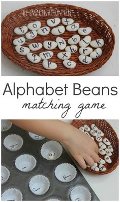 Alphabet Beans matching game literacy activity