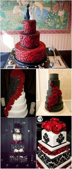 18 Black and Red Wedding Color Ideas #classicwedding #love #life #wedding #quote