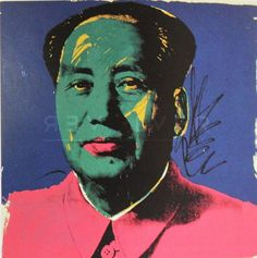 Mao (FS II.93) by Andy Warhol  | From a unique collection of portrait prints at https://www.1stdibs.com/art/prints-works-on-paper/portrait-prints-works-on-paper/