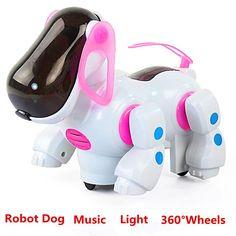 Baterai Dioperasikan Lampu Musik Bernyanyi Up Robot Anjing Elektronik Berjalan Hewan Peliharaan Anjing Interaktif Mainan Untuk Anak Anak Mainan Bayi
